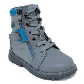 Обувь ортопедическая ботинки ORTHOBOOM 81055-01 серо-голубые - купить недорого / Самара, Тольятти, Ульяновск, Сызрань