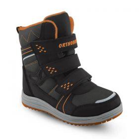 Обувь ортопедическая полусапожки ORTHOBOOM 67775-45 черный с оранжевыем - купить недорого / Самара, Тольятти, Ульяновск, Сызрань