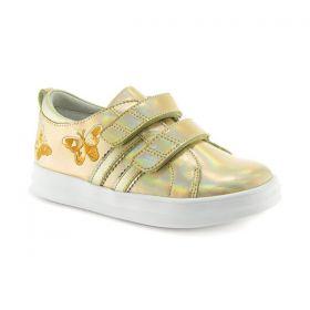 Обувь ортопедическая кроссовки ORTHOBOOM 37474-16 золотой с бабочками - купить недорого / Самара, Тольятти, Ульяновск, Сызрань